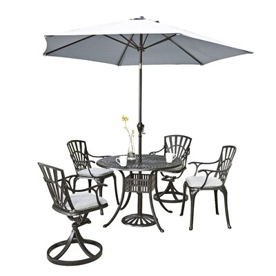 Frontenac 5 Piece Dining Set with Cushions Table Size: 42