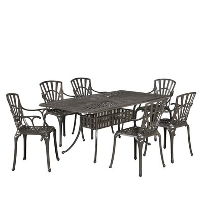 Frontenac 7 Piece Dining Set Color: Taupe