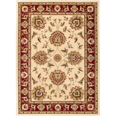 Colindale Ivory Area Rug Rug Size: 93 x 126