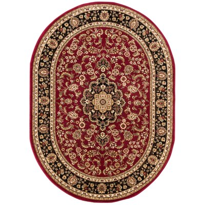 Cobbins Medallion Multi-Colored Area Rug Rug Size: Oval 53 x 610