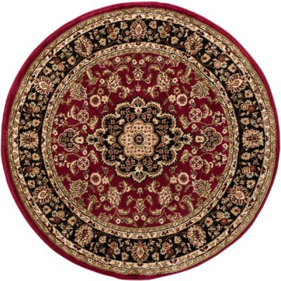 Cobbins Medallion Multi-Colored Area Rug Rug Size: Round 53