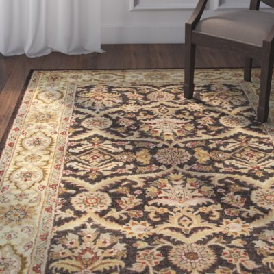 Bavis Brown Area Rug Rug Size: Round 8