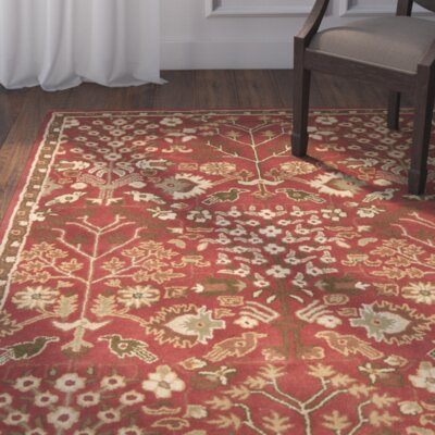 Balthrop Red Floral Area Rug