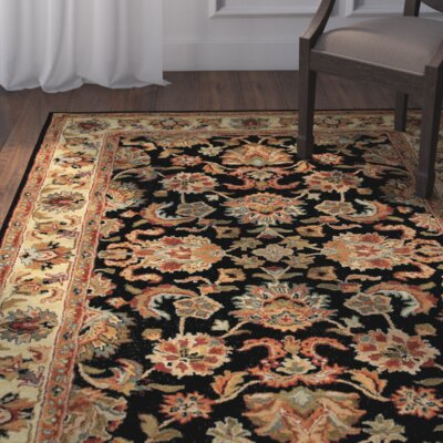 Baskett Black/Brown Area Rug
