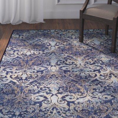 Adrian Denim Area Rug Rug Size: Rectangle 66 x 96