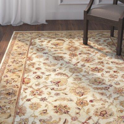 Bavis Tan Area Rug Rug Size: Round 10