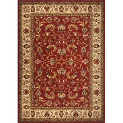 Caterina Red Area Rug Rug Size: 7'8