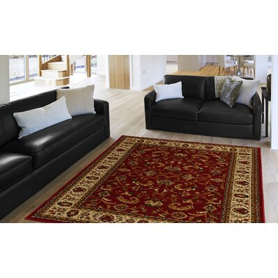 Caterina Red Area Rug Rug Size: Rectangle 52 x 72