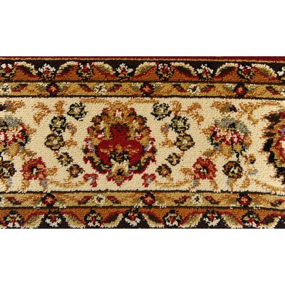 Caterina Red Area Rug Rug Size: Runner 1'9