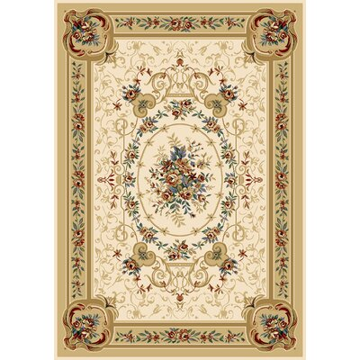 Caterina Beige Area Rug Rug Size: 52 x 72
