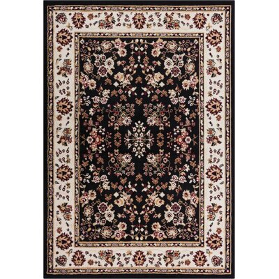 Coggrey Classic Black Area Rug Rug Size: Runner 18 x 72