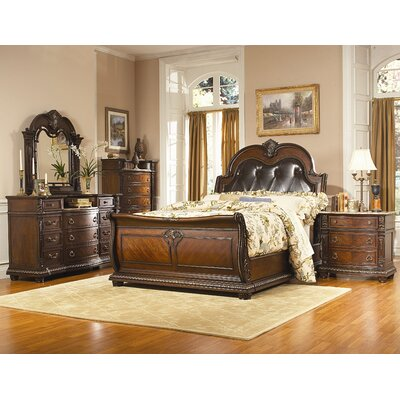Amalfi Sleigh Customizable Bedroom Set