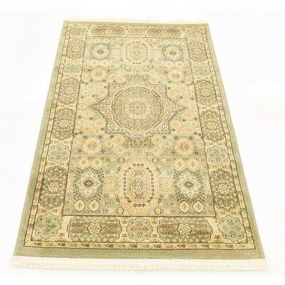 Cubbindall Light Green Area Rug