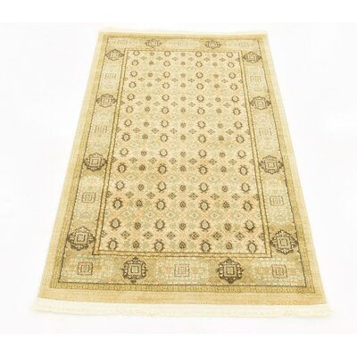 Laurelwood Cream Area Rug Rug Size: 33 x 53