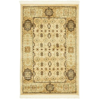 Laurelwood Cream Area Rug Rug Size: 2 x 3