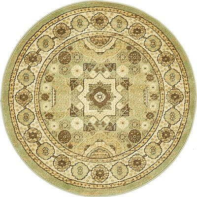 Laurelwood Brown Area Rug Rug Size: Round 33