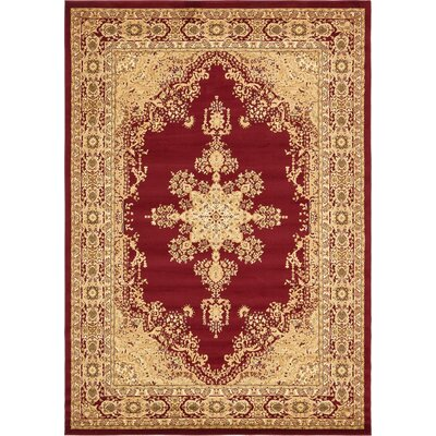Onsted Red Area Rug Rug Size: 8 x 114