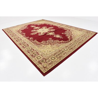 Onsted Red Area Rug Rug Size: 10 x 13