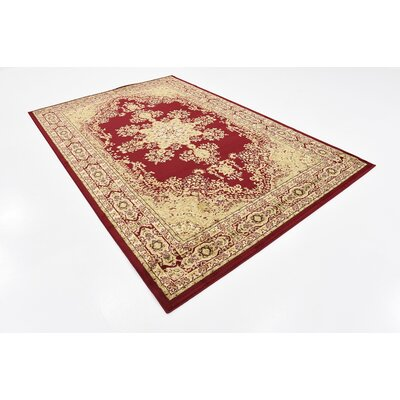 Onsted Red Area Rug Rug Size: 6 x 9