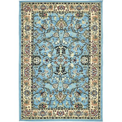 Concord Light Blue Area Rug Rug Size: 4' x 6'