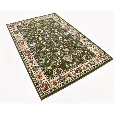 Essehoul Green Area Rug Rug Size: Rectangle 4 x 6