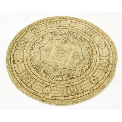 Cubbindall Light Green Area Rug Rug Size: Round 33