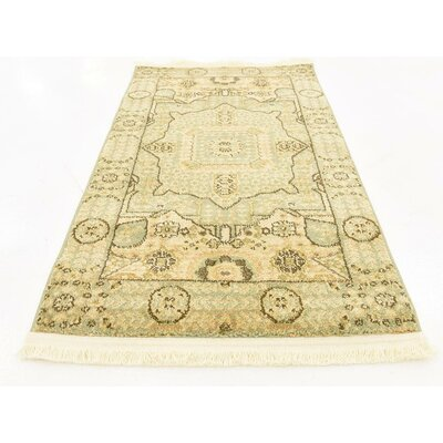 Cubbindall Light Green Area Rug Rug Size: 22 x 3