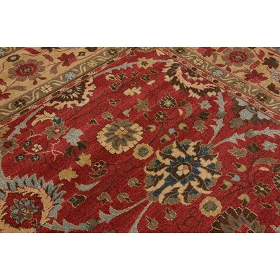 Ontonagon Red Area Rug Rug Size: 5 x 8