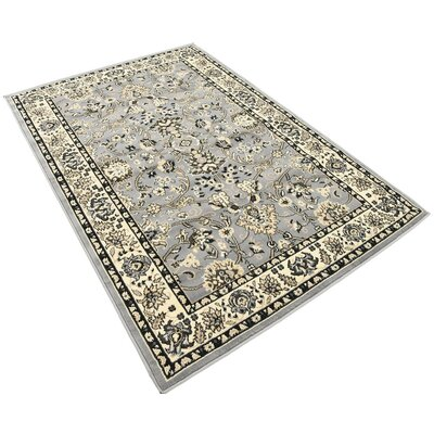 Essehoul Gray Area Rug Rug Size: Rectangle 4 x 6
