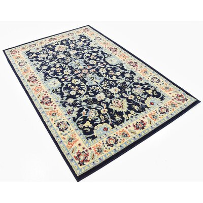 Essehoul Navy Blue Area Rug Rug Size: Rectangle 4 x 6