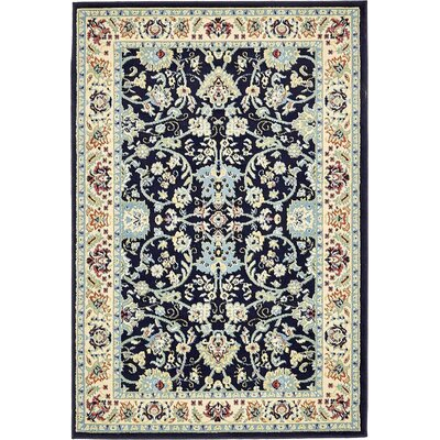 Concord Navy Blue Area Rug Rug Size: 4 x 6