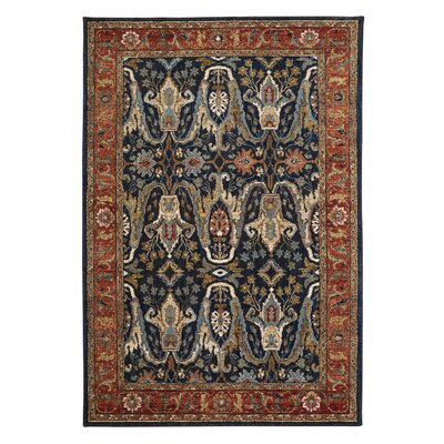 Medici Sapphire/Taupe Area Rug Rug Size: 53 x 710