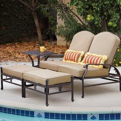 Fairmont Outdoor Sunbrella Loveseat and Double Ottoman Cushion