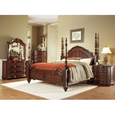 Ellsworth Four Poster Bed Size: California King