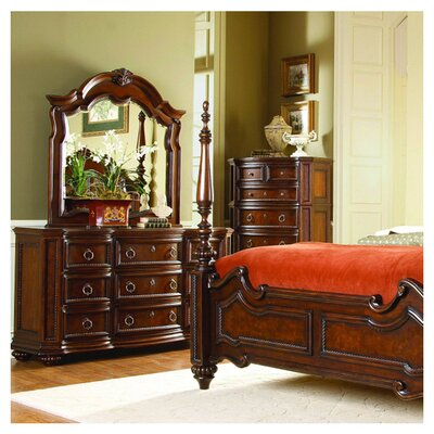 Drew 9 Drawer Dresser with Mirror