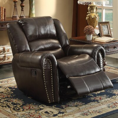 Medici Manual Glider Recliner Upholstery: Brown