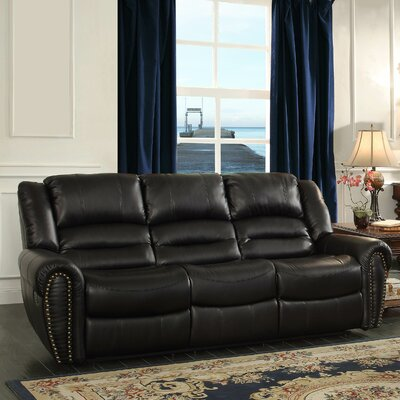 Medici Double Reclining Sofa Upholstery: Black