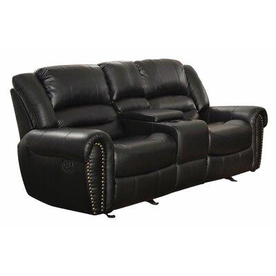 Medici Reclining Sofa Upholstery: Black