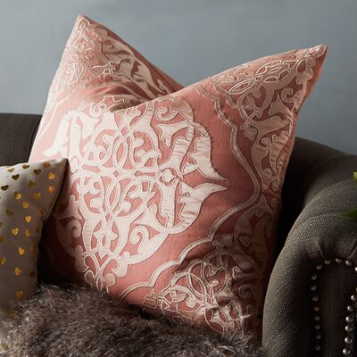 Barrett Pillow Cover Size: 18 H x 18 W x 1 D, Color: Pink