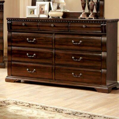 Starnes 9 Drawer Dresser with Mirror