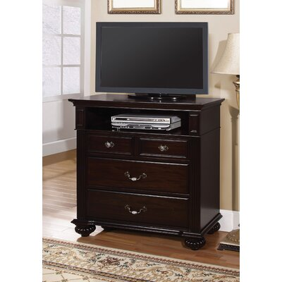 Wesleyan 4 Drawer Media Chest