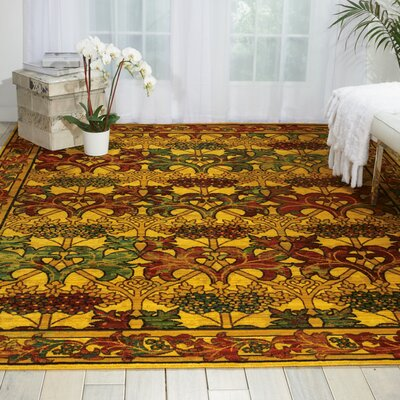 Charleson Stained Glass Area Rug Rug Size: 79 x 99