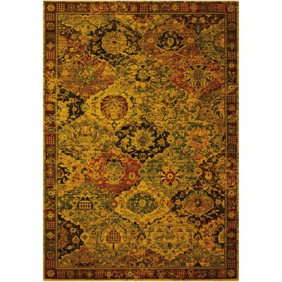 Charleson Gold/Ruby Area Rug Rug Size: 12 x 15