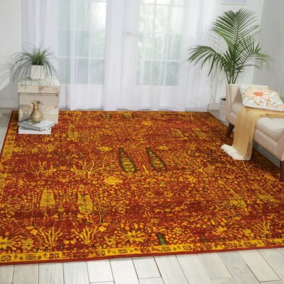 Charleson Scarlet Area Rug Rug Size: 79 x 99