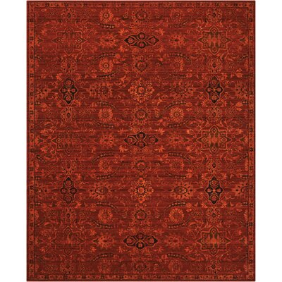 Charleson Red Area Rug Rug Size: 99 x 13