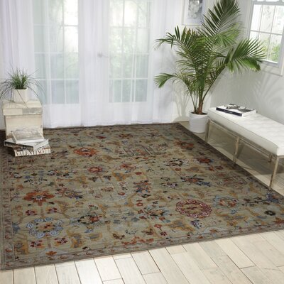 Charleson Taupe Area Rug Rug Size: Rectangle 79 x 99