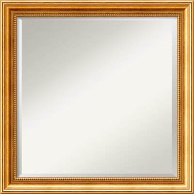 Hendry Gold Square Wall Mirror
