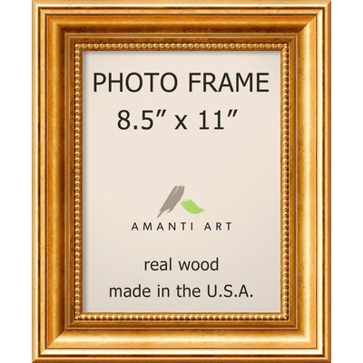 Hendry Gold Picture Frame Size: 8.5