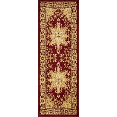 Onsted Red Area Rug Rug Size: Runner 22 x 6