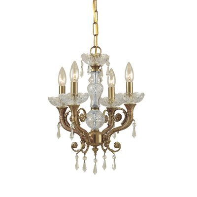 Markenfield 4-Light Candle Chandelier Crystal Type: Clear Swarovski Spectra